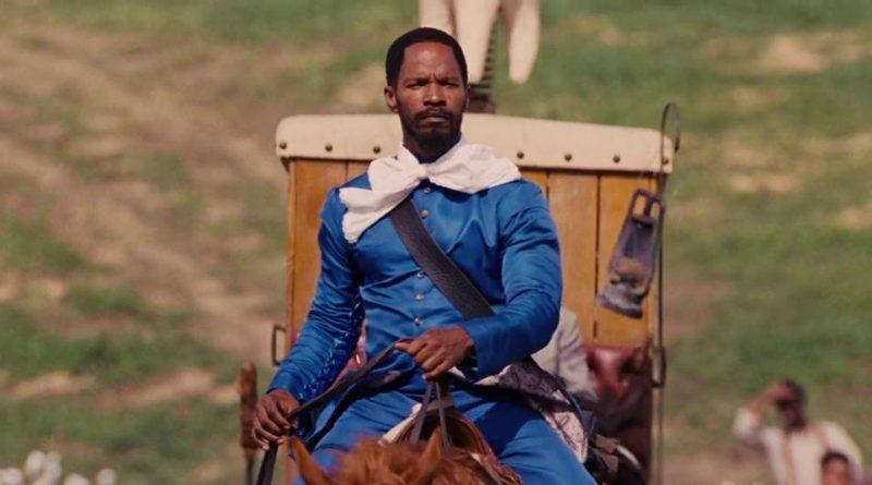Django desencadenado, Jamie Foxx a caballo