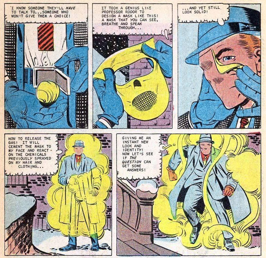 The Question Steve Ditko Rorschach Watchmen
